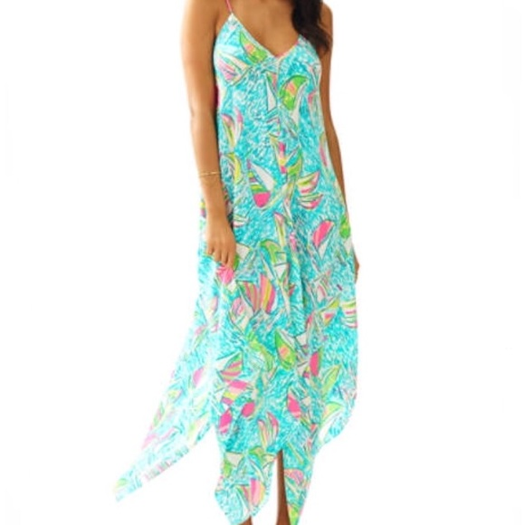 b0b48ad0d52f0d Lilly Pulitzer Dresses & Skirts - Lilly Pulitzer You Gotta Regatta maxi  dress, large